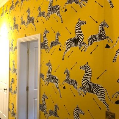 Scalamandre Zebras Wallpaper Installed in Acton, London