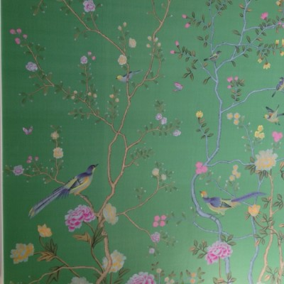 Installing de Gournay Handpainted Panoramic Wallpaper, London