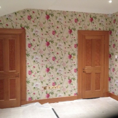 Installing Zoffany Wallpaper, Belgravia, London