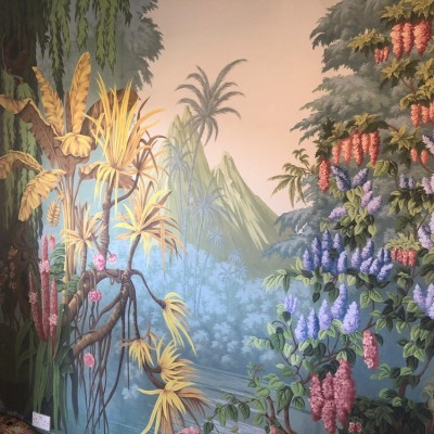 de Gournay hand painted wallpaper installed in Hackney, London