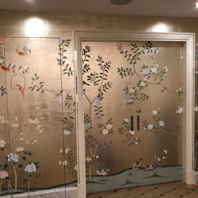de Gournay wallpaper installed in Greenway Gardens, NW3