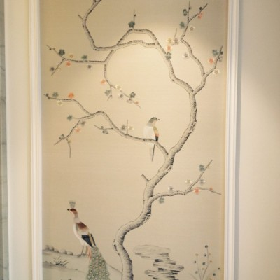 Installing Fromental Handpainted Panoramic Wallpaper, Ingram Avenue, Hampstead, London