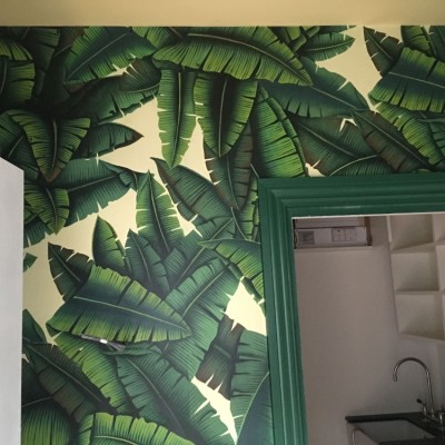 Installing de Gournay Handpainted Panoramic Wallpaper, Queens Park, London