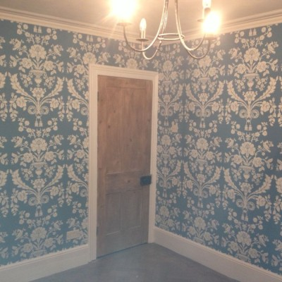 Installing F&B Wallpaper, Islington, London