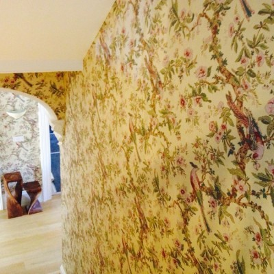 Installing Zoffany Wallpaper, Uxbridge, London