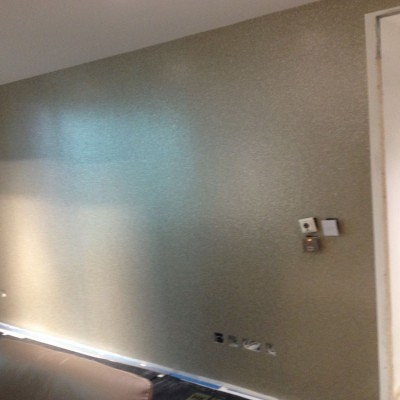 Installing Brian Yates, Pearl Shells Wallpaper, Vauxhall, London