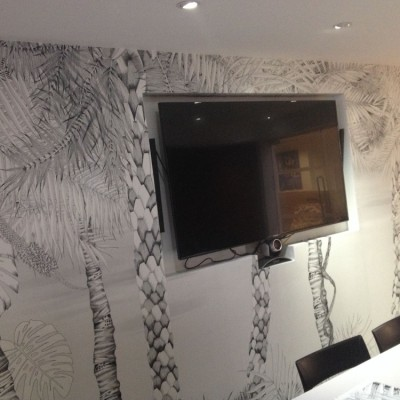 Installing Murals Digital Print Wallpaper, St Johns Wood, London
