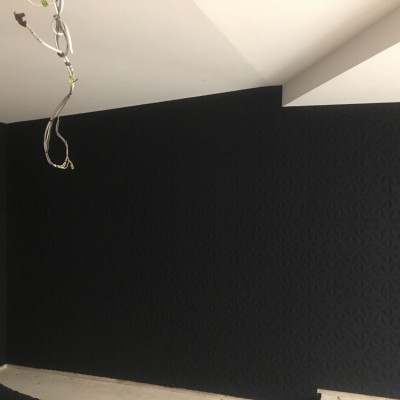 Installing 3D Wallpaper, Fulham, London
