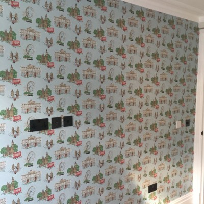 Installing Cole & Son Wallpaper, Chelsea, London