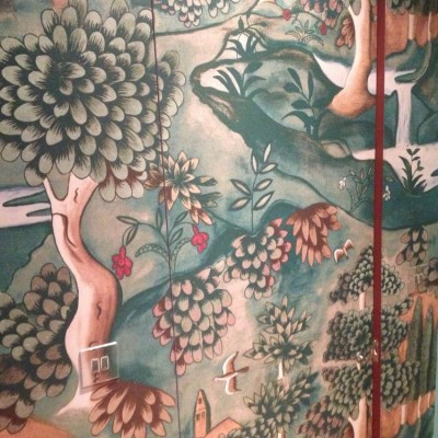 Installing Zoffany Mural Wallpaper, Islington, London