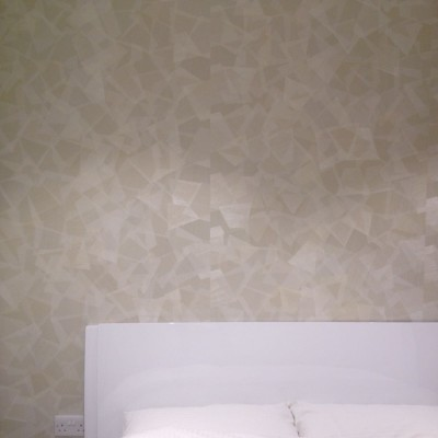 Installing Japanese Wallpaper, Wandsworth, London
