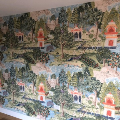 Installing Zoffany Mural wallpaper in Finchley, North London