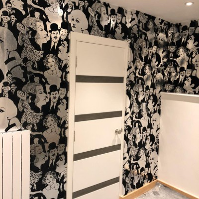 Installing vintage wallpaper in Finchley, North London